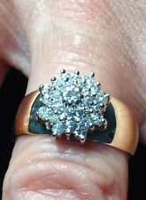 14k Diamond Cluster Ring Approx 0.50 Carats