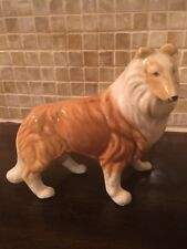 Collie Lassie Dog Handcrafted Collectibles Ceramic Figurine By Em
