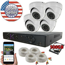 Sikker 4 Channel DVR Recorder indoor outdoor Surveillance Camera Security System