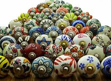 Drawers Knobs Door Cupboard Pulls Indian Mix Knobs Assorted Multi Color Ceramic