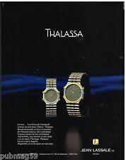 Publicité Advertising 1986 Les Montres Thalassa par Jean Lassale