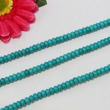 Naturelle Turquoise 5x8mm Rondelle Perles
