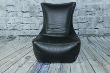 Faux Leather Saddle Stitched High Back Bean Bag Chair Lounger Recliner 2 Colours