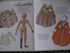 2004 Mona Borger Amalia German Wooden Paper Doll Uncut