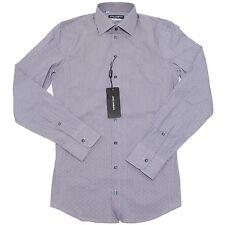 1561I camicia uomo blu DOLCE & GABBANA D & G sicilia manica lunga shirts men