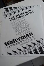 Ancienne publicité de presse - PORTE PLUME WATERMAN / CINE KODAK