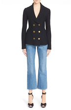NWT ALEXANDER McQUEEN Blk Wool Double Breasted Blazer Jacket Size S $2145