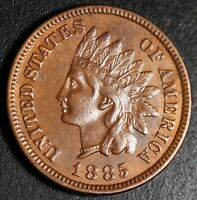 1885 INDIAN HEAD CENT With LIBERTY & DIAMONDS - XF EF
