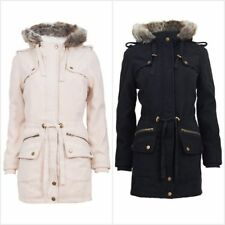 Autumn Patternless Parkas for Women
