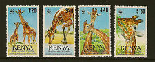 KENYA :1978 Reticulated Giraffe WWF set SG501-4 unmounted mint