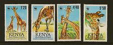 KENYA :1978 Reticulated Giraffe WWF set SG501-4 unmounted mint