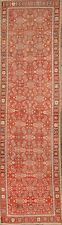 ANTIQUE Rust 12 ft RUNNER All-Over Caucasian Kazak Russian Oriental Rug 3x12