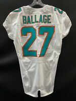"#27 KALEN BALLAGE  MIAMI DOLPHINS NIKE TEAM ISSUED WHITE ""SAMPLE"" JERSEY SIZE 42"