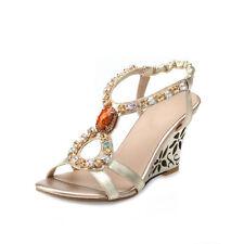Women's Wedge Heel Argyle & Diamond Sandals/Beach Shoes