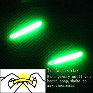 50PCS/10Bags Green Night Fishing Light LED Fluorescent Dark Glow Sticks