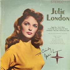"JULIE LONDON HAND SIGNED AUTOGRAPH LP ALBUM  ""TENDERLY YOURS"""