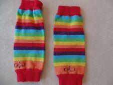 baby girls RAINBOW BL LEG WARMERS knit STRIPED stretchy CLOWN COSTUME cute