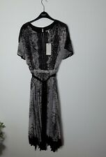 BNWT Coast Marni snake print long midi  hi low dress UK 8