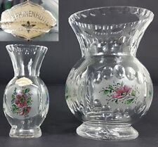 2 vases, verre, Cabane de Josephine, peinture à la main