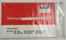 Massey Ferguson MF152 158 168 188 Wartungsdienstheft Wartungsheft Scheckheft