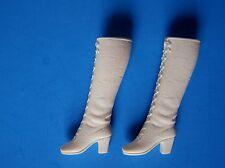 1970 BARBIE FRANCIE HTF SOFT LACE UP WHITE BOOTS Mattel MOD Rare JAPAN Vintage