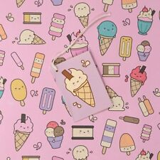 Ice Cream Lolly Gift Wrapping Paper Sheet & Tag Quality Female Girl Mothers Day
