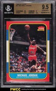 1986 Fleer Basketball Michael Jordan ROOKIE RC #57 BGS 9.5 GEM MINT