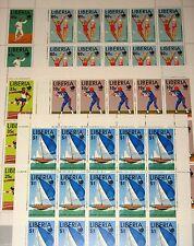 LIBERIA 1988 Klb 1424-28 MS 1091-95 Summer Olympics Seoul Baseball Fencing MNH