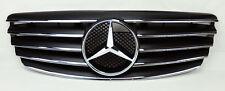 Mercedes E Class W211 03-06 5 Fin Front Hood Sport Black Chrome Grill Grille