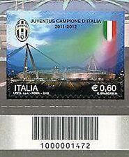 2012 - Campionato italiano di Calcio - Juventus Euro 0,60 - CODICE A BARRE 1472