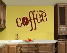 Coffee Tea Shop Restaurant  Business  Mural  Wall Art Decor Vinyl Sticker z690