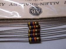 5 Allen Bradley Carbon Comp Resistors 47k 1/2W 5%