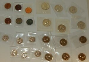 1955 Proof Coins - 25¢, 10¢, 5¢, 1¢ - 6 each - (24 Coins)
