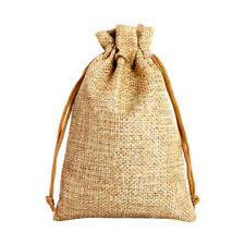 10*14cm Linen Material Small Gift Drawstring Bags Candy Bag Packaging Simple New