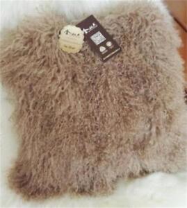 100% Real Mongolian Lamb Tibetan Fur Pillow Case Cushion Cover Pillowcase Soft