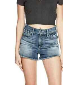 G by GUESS Teedra High-Rise Jean Shorts -Medium Wash