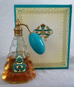 4711 Blau Gold Doppelt   Schöner alter Glasflakon mit Zerstäuber in OVP - selten