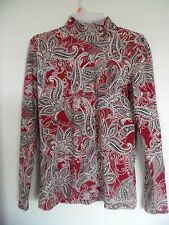 Karen Scott Women's Paisley Mock Turtleneck Shirt Top Sz S