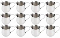 (12 Pack) 5-Ounce Stainless Steel Bell Creamer, 150 ml. Coffee Creamer Pitchers
