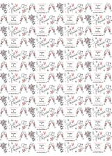 """Personalised Wedding Wrapping Paper """"Simply Pink""""."""