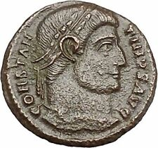 CONSTANTINE I the GREAT 328AD Ancient Roman Coin Military Camp gate i41217