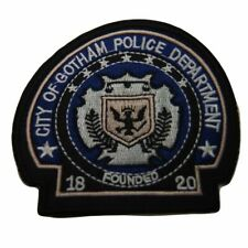 "Batman Gotham Police Logo 3 1/2"" Tall Embroidered Iron on Patch"