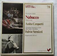 NABUCCO GIUSEPPE VERDI LP ANITA CERQUETTI FULVIO VERNIZZI VINYL ITALY 1981 NM/NM