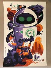 Tom Whalen Wall-E screen print Disney Pixar movie poster Wall E Mondo art print