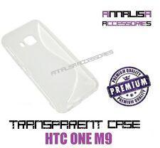 CUSTODIA TRASPARENTE PER HTC ONE M9 COVER PROTEZIONE IN SILICONE TPU SLIM CASE