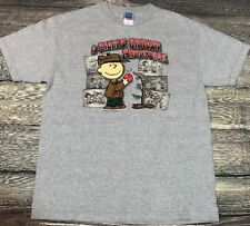 Peanuts A Charlie Brown Christmas Men's Graphic T-Shirt size L Christmas tree