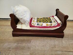 Muffy Vanderbear Vintage Sleigh Bed W/ Mattress, pillow
