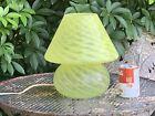 MURANO+STYLE+YELLOW+SWIRL+MUSHROOM+LAMP
