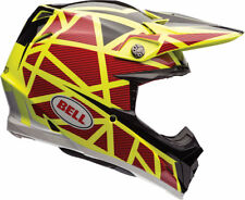 BELL MOTO  9 FLEX HELMET STRAPPED YELLOW/RED xlarge