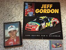 NASCAR DuPont Jeff Gordon collectible Rookieplaque/Rookie card/98 Calendar
